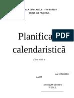 Planificarea Mea Forma Finala Clasa a III a 2. 10. 2011