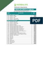 Lista de Precio de Productos Herbalife Con Descuento Actualizada Al PVP Enero 2014