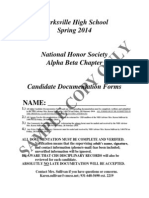 2014 nhs candidate documentation form