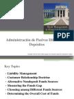 3.2 Administración de Pasivos Diferentes a Depósitos