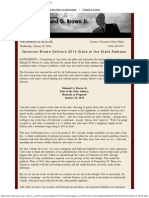 Governor Brown Delivers 2014 State of the State Address
