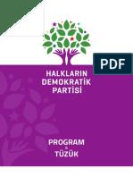 Halkların Demokratik Partisi Program & Tuzuk