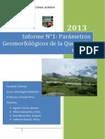INFORME 1 PARAMETROS GEOMORFOLOGICOS