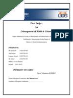 TQM Project Muhamamd Jahanzaib (11022720-028)