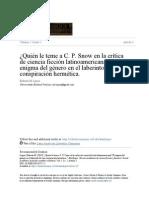 Ciencia ficción y hermetismo en América Latina