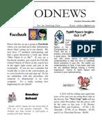"""""""Good News"""" Oct-Nov Newsletter for the Church"""