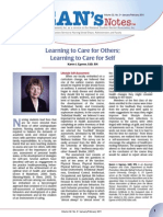 Deans Notes Learning to Care for Self Jan11