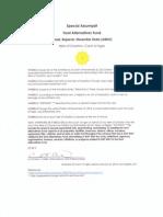 Special Assumpsit, Hunt Alternatives Fund (ARDO)