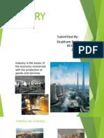 Ppt Presentation on Industry by - Shubham Patti, Bcom 2 ,2057