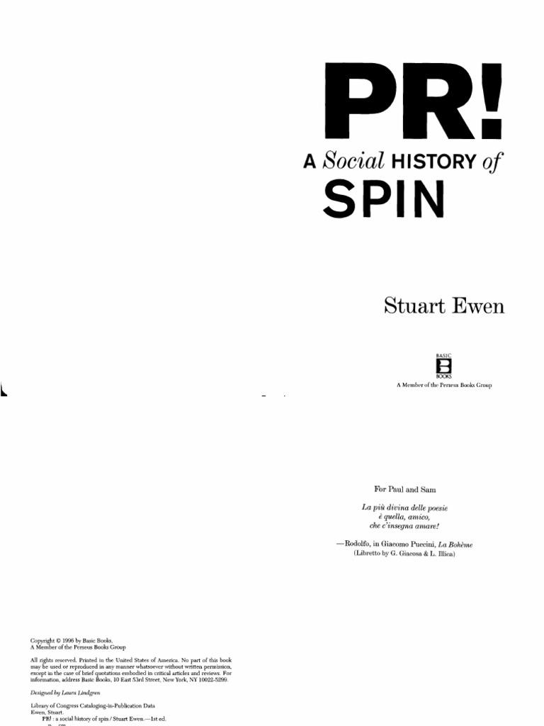 Stuart ewen pr a social history of spin 1996 public relations stuart ewen pr a social history of spin 1996 public relations propaganda fandeluxe Images