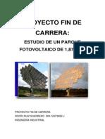 Estudio de Un Parque Fotovoltaico