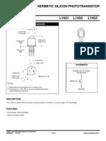 Hermetic Silicon Phototransistor