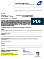 PBS KIDS Writers Contest Entry Form 2014