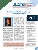 Deans Notes Nursing Shortage Jan13