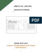 6.3 MVA Transformer User Manual, M020118B