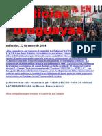 Noticias Uruguayas miércoles 22 de enero del 2014