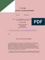 """V. I. Lenin THE """"AUGUST"""" FICTION EXPOSED"""