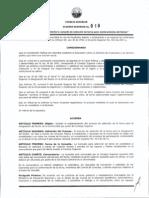 Acuerdo Superior No. 019 de 2012