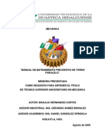 Manual de Mantenimineto Preventivo Torno Papalelo