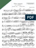 Manuel de Falla Danse Espagnole Violin Sheets