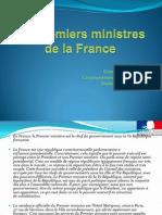 Les Primiers ministres  de la France