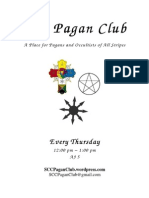 SCC Pagan Club Flyer