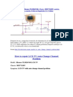 TV LCD  Modelo Hisense TLM26V68, Chasis MST721DU cambia automáticamente los canales. Falla en Regulador 3.3. Voltios.doc