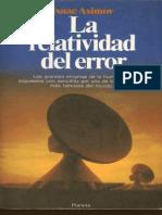 Asimov, Isaac - La Relatividad Del Error