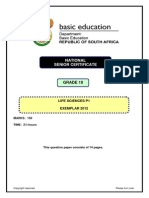 Life Sciences P1 GR 10 Exemplar