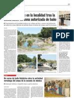 Crece el turismo por la declaracion de zona de baño del rio Tormes.Puente del Congosto.Verano de 2009