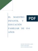EL MAESTRO DE INFANTIL Y LA EDUCACIÓN FAMILIAR DE 0 A 6 AÑOS