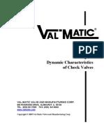 Dynamic Char Act Check Valves