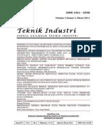 Jurnal Ti Vol 1 No 1 Maret 2011