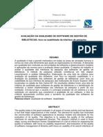 avaliação da Qualidade de Software de Gestão de Bibliotecas