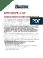 com 0438, 061105 Inaugura Eugenio Hernández Flores Festival Letras del Mundo 2005