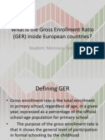 Gross Enrollment Ratio in European Countries