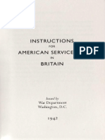 Instructions for American Servicemen in Britain 1942