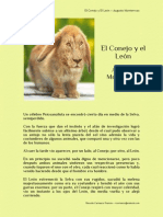 El Conejo y El León – Augusto Monterroso