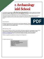Field School Application 2014