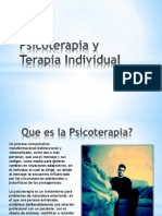 Psicoterapia y Terapia Individual