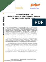 Plan Desconcentracion Partido Popular San Pedro