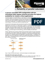 Reliability of Parallel Redundant UPS