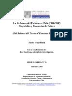 La Reforma del Estado en Chile 1990 - 2005 De la confrontación al consenso