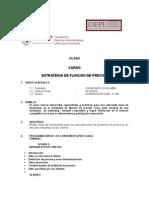 Temario Del Curso de Estrategia de Fijacion de Precios - Usmp -Oepu