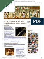 Apolo XX-Missao Secreta, Nave Mae Gigantesca e Cidade Alienigena Na Lua _ Thoth3126