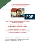 Mensaje del Partido Comunista de la India (Maoísta) (2)