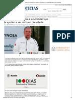 20-01-2014 'Pepe Elías demanda a la sociedad que le ayuden a ser un buen presidente'