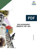Solucionario Ensayo MT-034 2013