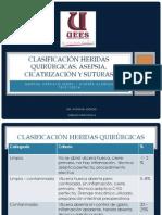 CLASIFICACIÓN HERIDAS QUIRÚRGICAS, ASEPSIA, CICATRIZACION Y SUTURAS -ALMEIDA - ARÉVALO