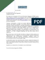 Carta de FOPEA al periodista Nicolás Brutti